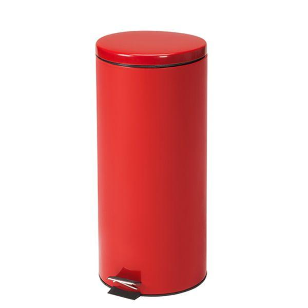 Clinton Waste Can - 32 QT Red Round