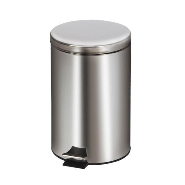Clinton Waste Can - 20 QT Stainless Steel Round