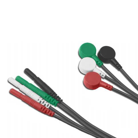ConMed R Series 3 Lead Safety Leadwires - Snap Style
