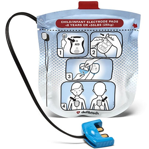 Defibtech Pediatric Defibrillation Pads (1 Pair) - 2