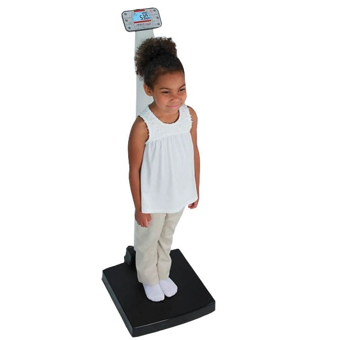 Detecto Apex Digital Clinical Scale with Mechanical Height Rod - Adjustable Height Rod