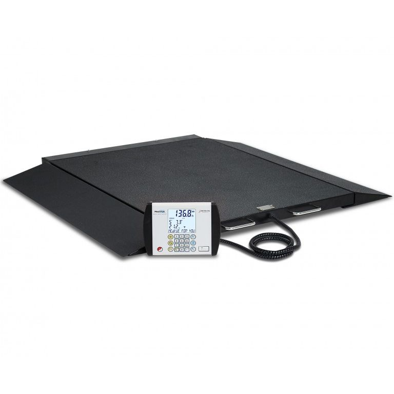 Detecto Digital Portable Bariatric Wheelchair Scale - Low-Profile