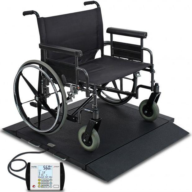 Detecto Digital Portable Bariatric Wheelchair Scale with Wheelchair