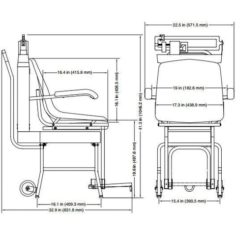 Detecto Mechanical Chair Scale - Schematic