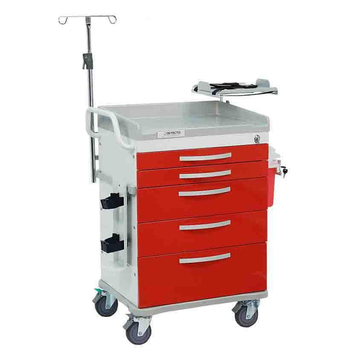 Detecto Rescue Series Loaded ER Medical Cart