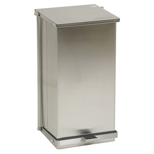 Detecto Step-On Stainless Steel Waste Receptacle - Close-Up