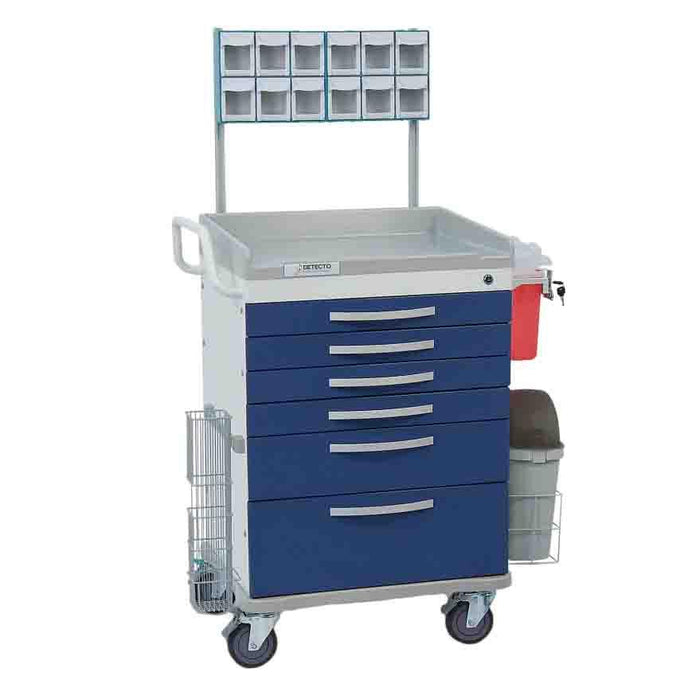 Detecto Whisper Series Loaded Anesthesiology Medical Cart