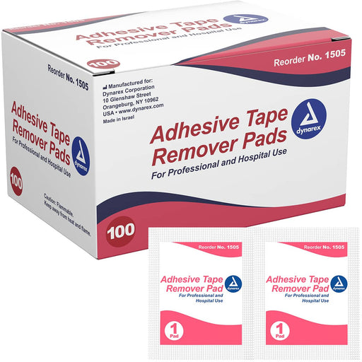 Dynarex Adhesive Tape Remover Pads (1000/Case)