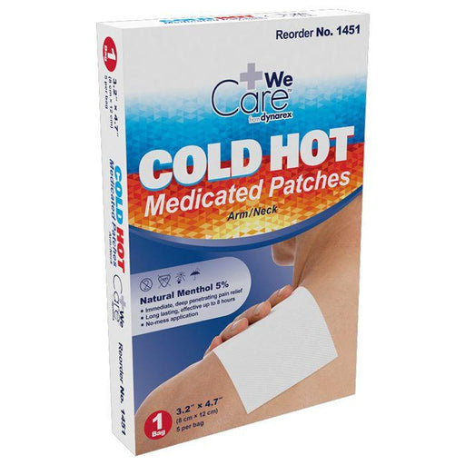 Dynarex Cold Hot Medicated Patches - Arm/Neck