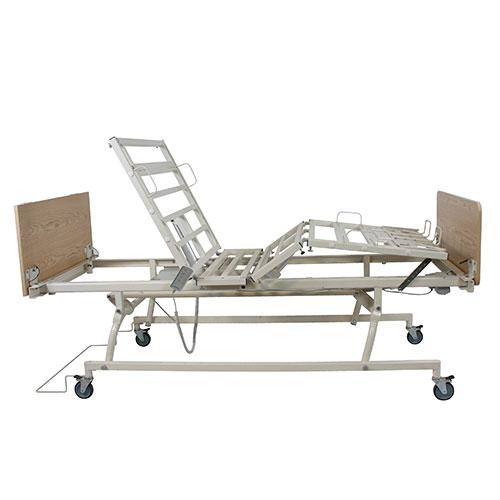 Dynarex DB200 Bariatric Bed - Side View, Raised