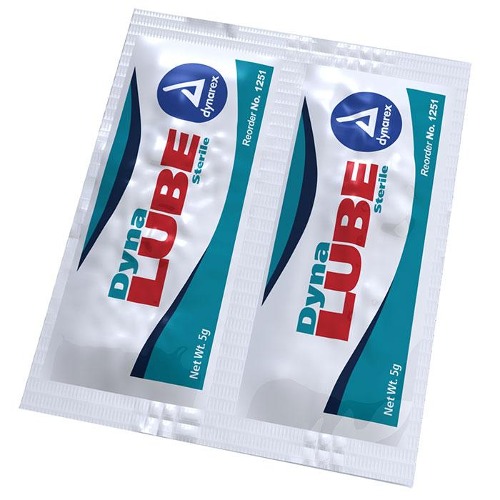 Dynarex DynaLube Sterile Lubricating Jelly - 5 g Packet