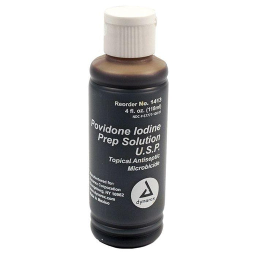 Dynarex Povidone-Iodine Prep Solution - 4 oz