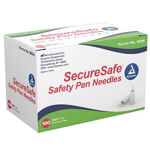 Dynarex SecureSafe Safety Pen Needles (1200/Case)