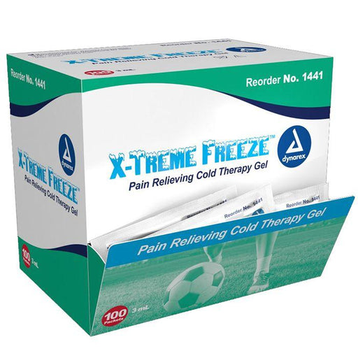 Dynarex X-Treme Freeze Pain Relieving Cold Therapy Gel - 3 ml Packet