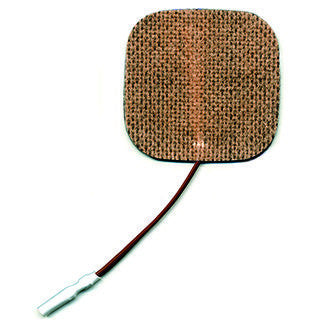 "Dynatronics DynaFlex Brown Fabric Electrode - 2"" Square"