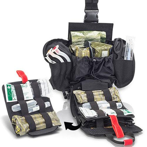 Elite Bags Quickaid's Drop Leg First Aid Bag - Black, Removable Pack