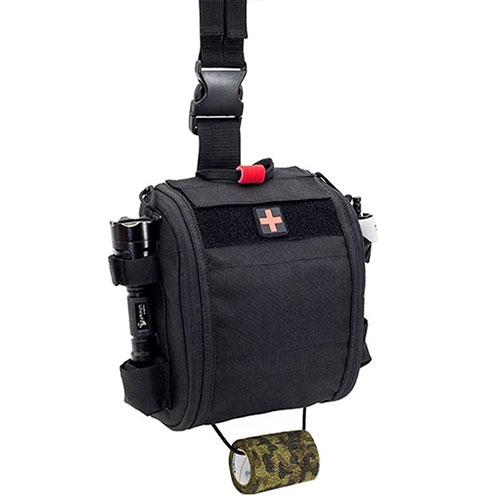 Elite Bags Quickaid's Drop Leg First Aid Bag - Black