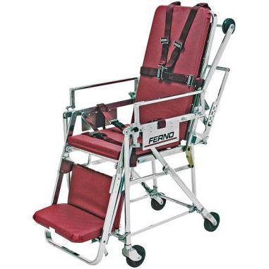 Ferno 28 Fernoflex Roll-In Chair Cot - Burgundy - Chair Position