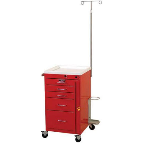 Harloff 3145B-EMG Short 5 Drawer Mini Cart- Breakaway Lock, EMG Package - 2
