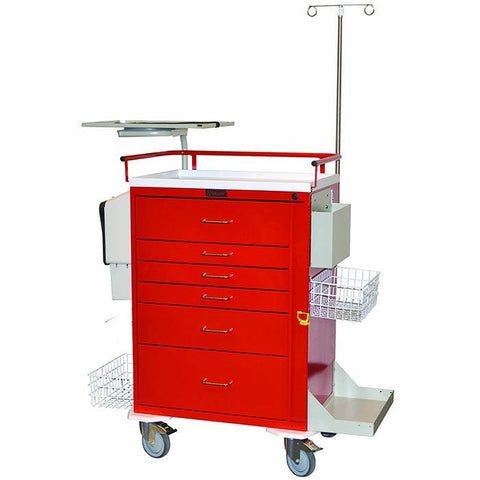Harloff 6411 Classic Six Drawer Emergency Cart