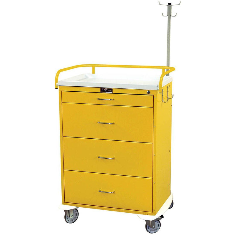 Harloff 6521 Classic Line 4 Drawer Infection Control Cart