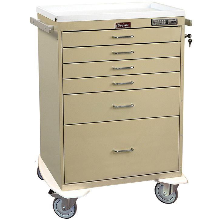 Harloff 7450E 6 Drawer Beige Anesthesia Cart