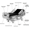 Hill-Rom Advanta Hospital Bed Labeled