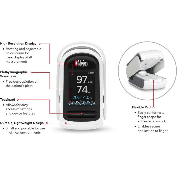 Masimo MightySat Rx Fingertip Pulse Oximeter - Features