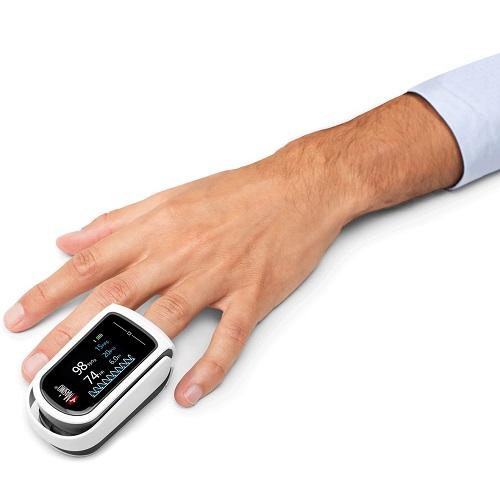 Masimo MightySat Rx Fingertip Pulse Oximeter in use