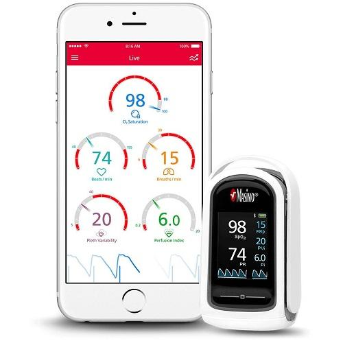 Masimo MightySat Rx Fingertip Pulse Oximeter with App