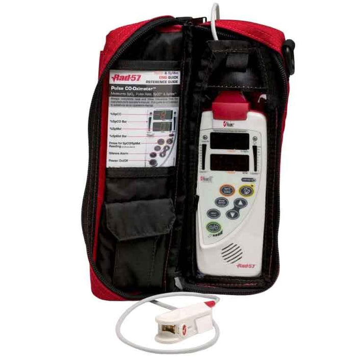 Masimo Oximeter Carrying Case - For Rad-5/5v/57 - Water Resistant Handheld Case - Red