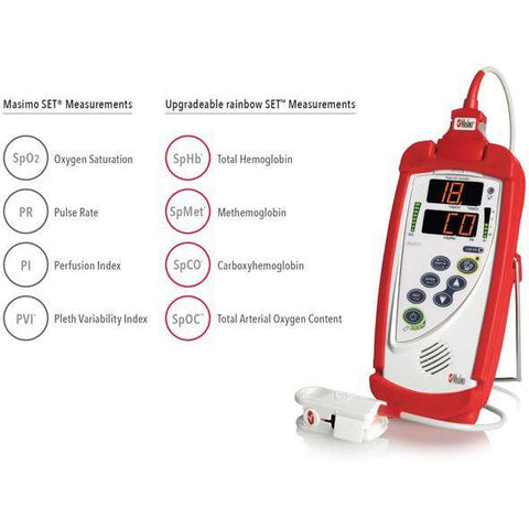 Masimo Rad-57 Pulse Oximeter measurements