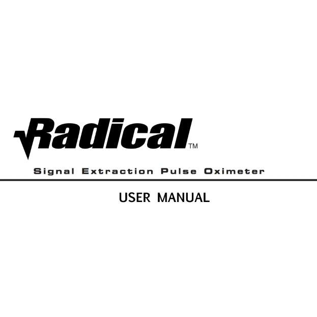 Masimo Radical User Manual