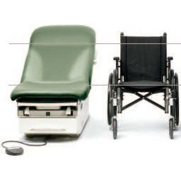 Midmark 622 Barrier-Free Examination Table - height comparison