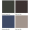 Midmark Articulating Armboard Colors - Shaded Garden, Deep Earth, Soothing Blue, Dark Linen