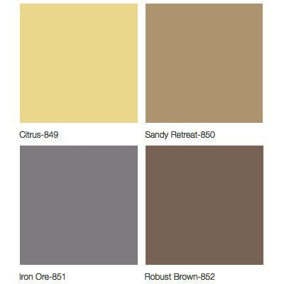 Midmark 640 Pediatric Examination Table Upholstery Colors - Citrus, Sandy Retreat, Iron Ore, Robust Brown