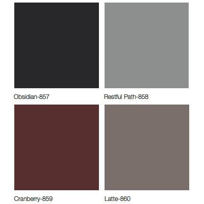Midmark 640 Pediatric Examination Table Upholstery Colors - Obsidian, Restful Path, Cranberry, Latte