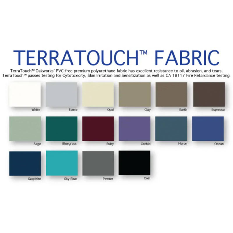 OakWorks Portable Manipulation Table Fabric Color Chart