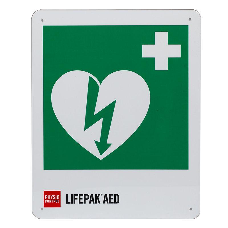 Physio-Control ILCOR AED Location Sign - Flat