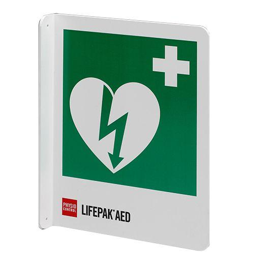 Physio-Control ILCOR AED Location Sign - T-Mount