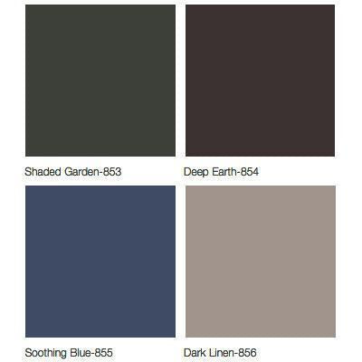 Ritter 230 Facial Pad Colors - Shaded Garden, Deep Earth, Soothing Blue, Dark Linen