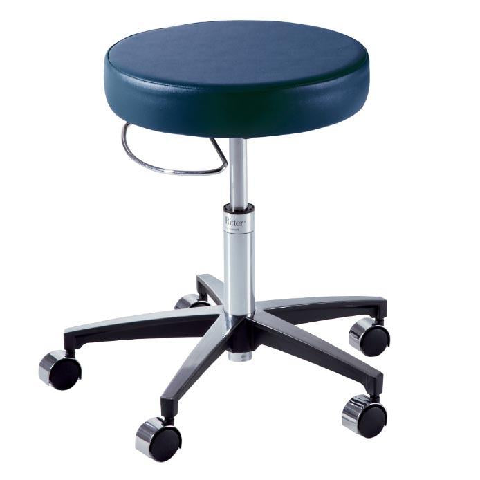 Ritter 276 Air Lift Hand Operated Stool with Soft Rubber Casters