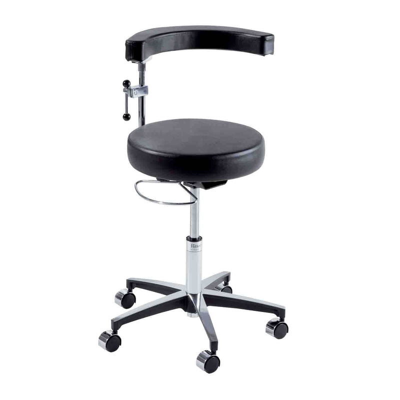 Ritter 279 Air Lift Surgeon Stool with Auto Locking Casters