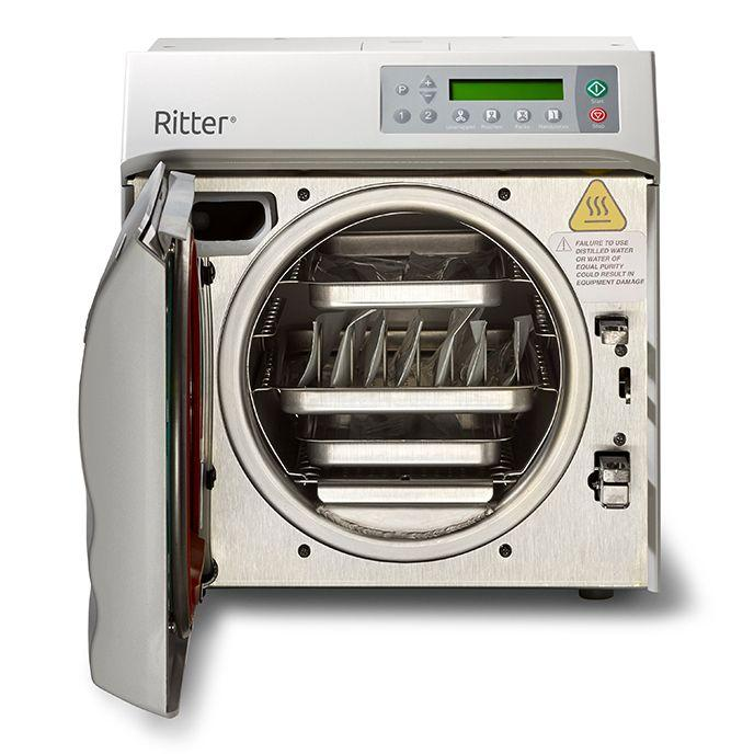 Ritter M9 Steam Sterilizer with pouch rack