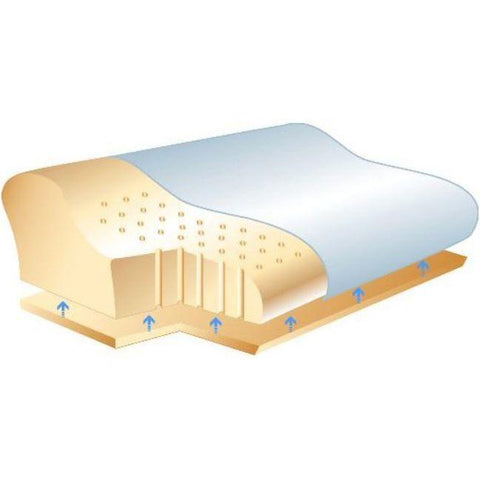 SISSEL Orthopedic Pillow Plus with Cover - Schematic