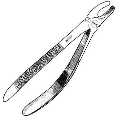 Sklar Childrens Extracting Forceps #39