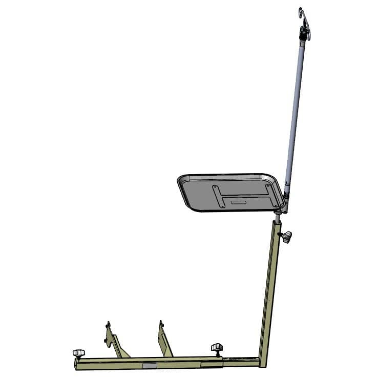 TransMotion Medical Monitor Tray with IV Rod