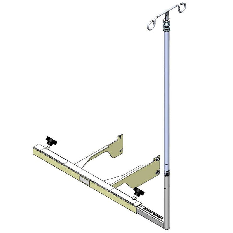 TransMotion Medical Stationary IV Pole without Tray for X Chair