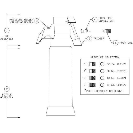 Wallach UltraFreeze Liquid Nitrogen Sprayer Schematic