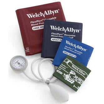 Welch Allyn DuraShock DS44 Integrated Aneroid Sphygmomanometer - 4-Cuff Kit (Size-09 Child Print to Size-12)